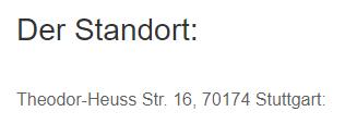 Standort für  Ludwigsburg